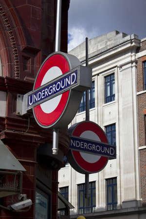 Tube sign Covent Garden Underground Station, London