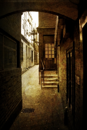 victorian house: Alleyway in London Stock Photo