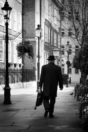 fedora hat: Man with hat, London