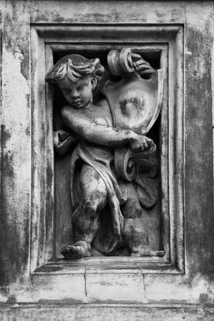 angel cemetery: Cherub Stock Photo