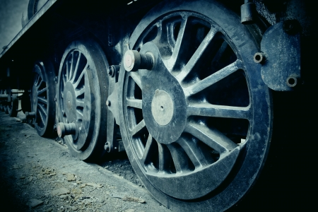railway history: Old Steam Train Wheels