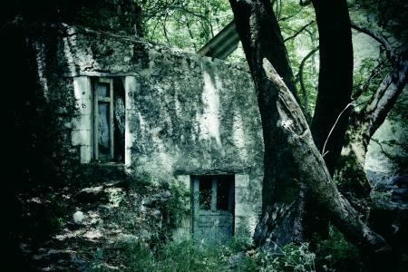 pared rota: Derelict casa