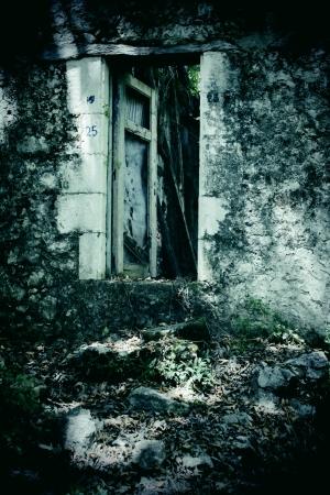 Broken doorway 写真素材