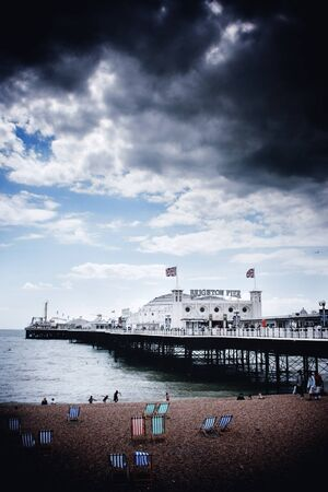 Dark clouds above Brighton Pier