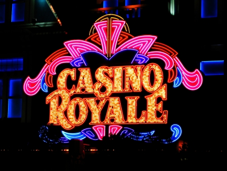 LAS VEGAS NV - JUNE 05 Hotel Casino Royale on June 27, 2005 in Las Vegas, USA  Casino Royale is the hotel and casino located on the Las Vegas Strip Boulevard  Opened 1979 as Nob Hill  Stock Photo - 19573560