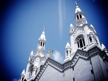 St Peter and Paul Church towers San francisco