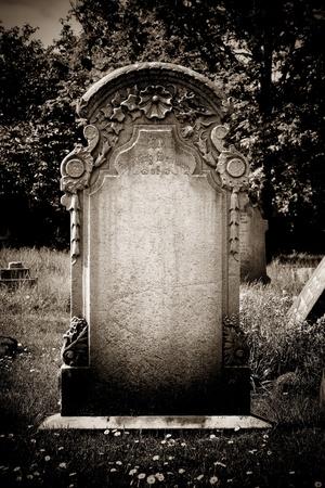 tomb empty: Blank headstone