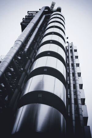 lloyds london: LONDON - SEPTEMBER 21  The Lloyds building pictured on September 21, 2013, during the annual Open House event in London, UK  Design by Richard Rogers and opened by Queen Elizabeth II in 1986