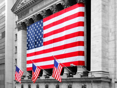 nyse: NEW YORK - MARCH 9: New York Stock Exchange on March 9, 2007 in New York, NY. With origins as far back as 1792, the NYSE is currently the worlds largest exchange by market capitalization. Stock Photo