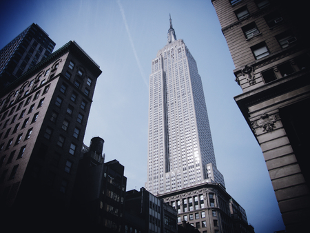 NEW YORK - MARCH 9: Empire state building facade on March 9, 2007. It stood as the world�s tallest building for more than 40 years (from 1931 to 1972)