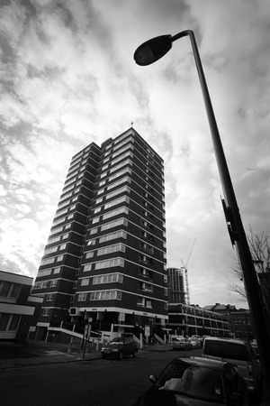 towerblock: LONDON - JAN 18  Old Street area of inner city London on January  18, 2013 in London, UK