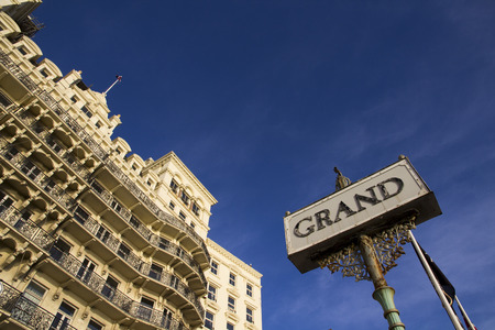 BRIGHTON SUSSEX UK 13 October 2016: Grand Hotel on seafront