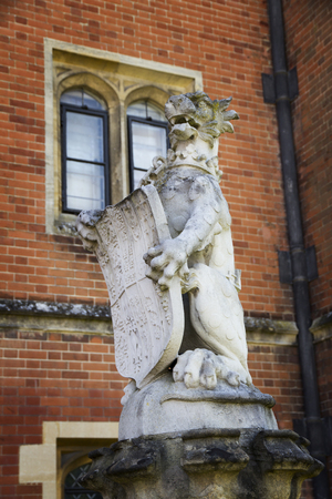 LONDON, UK - May 11, 2018. Statues outside Hampton Court Palace. London, Uk - May 11, 2018 Redakční