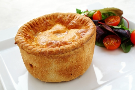 traditional  English pork pie photo