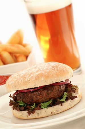 beefburger: burger in bun