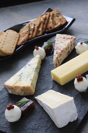 wensleydale: queso tribunal plato Foto de archivo