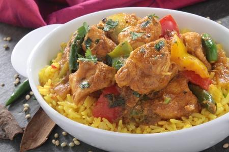 plated: Indian Jalfrezi Curry Stock Photo