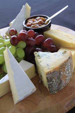 platter: cheese selection platter Stock Photo