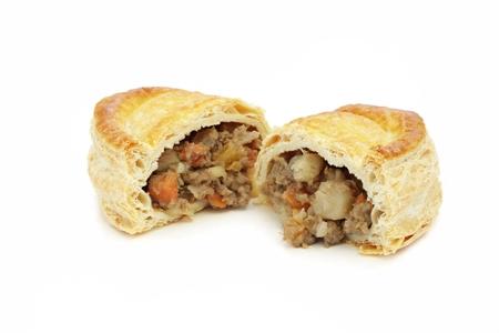 pasty: cornish pasty isolated on white