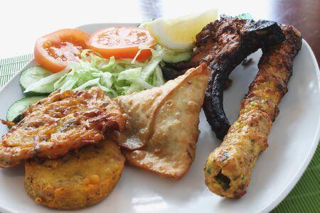 pakistani food: Indian  Mixed Starter Stock Photo