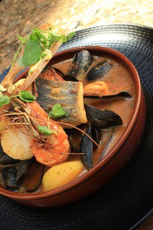 Bouillabaisse Fish Stew Stock Photo