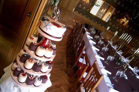 preperation: wedding cakes Stock Photo