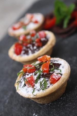 tarts: mini chocolate tarts with chili