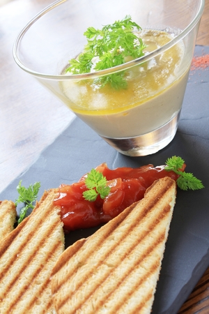 entrees: smooth pate with toast