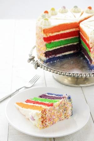 layered: layered rainbow cake