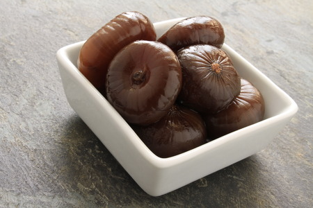 onions: pickle onions in balsamic