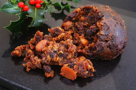 steamed christmas fruit  pudding