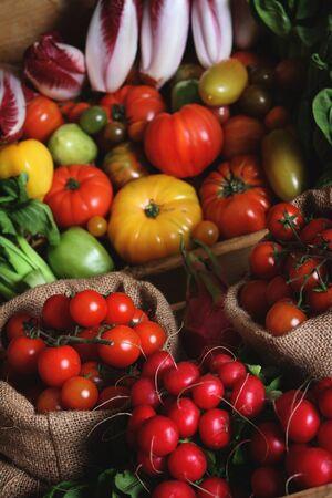 ingrediant: fresh mixed vegetables at market