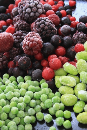 fruta congelada: frozen fruit and vegetables