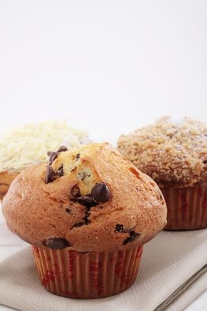 coffe break: selection of fresh muffins