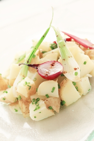 potato salad: fresh potato salad with onion