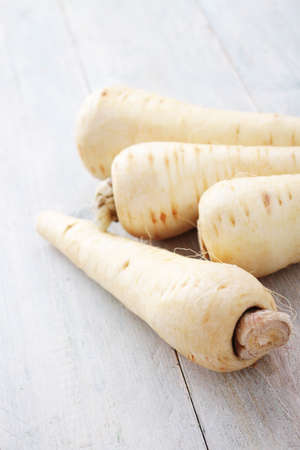 parsnips: fresh harvested parsnips