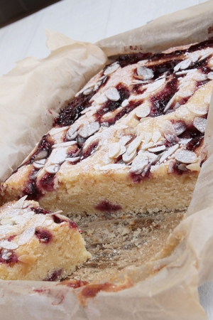 fench: frangipane raspberry tart