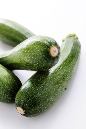 ingrediant: fresh whole courgettes Stock Photo