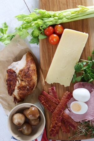 preperation: food ingredients for sandwiches