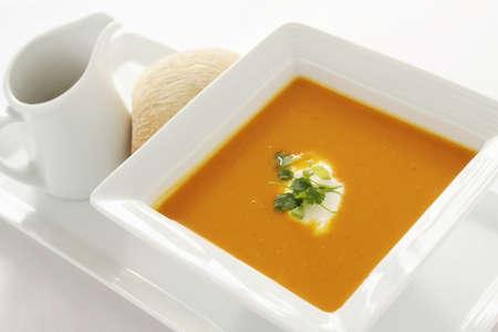 starter: fresh soup appetizer starter Stock Photo
