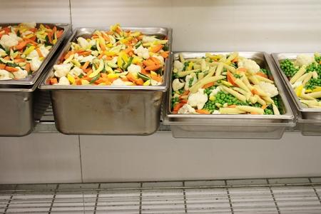 preparing: preparing vegetables in kitchen Stock Photo