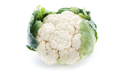 ingrediant: fresh whole cauliflower Stock Photo