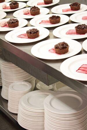 plating: chocolate tart