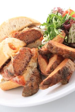 binge: burger meal Stock Photo