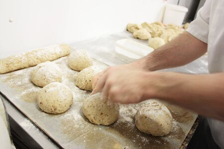 proving: baker preparing bread