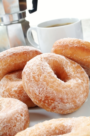 plated: Traditional Donuts plated Stock Photo