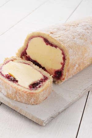swiss roll: Artic Swiss roll dessert cake