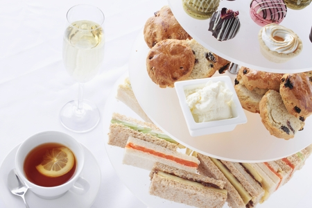 traditional afternoon tea 스톡 콘텐츠