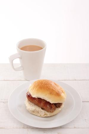 bap: plated sausage sandwich
