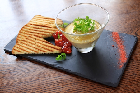 pate: smooth pate with toast